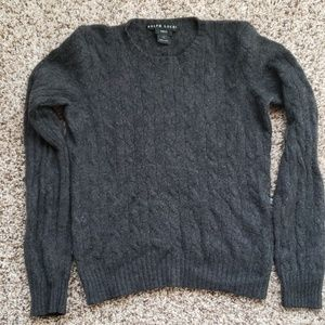 Ralph Lauren cashmere dark grey cable sweater